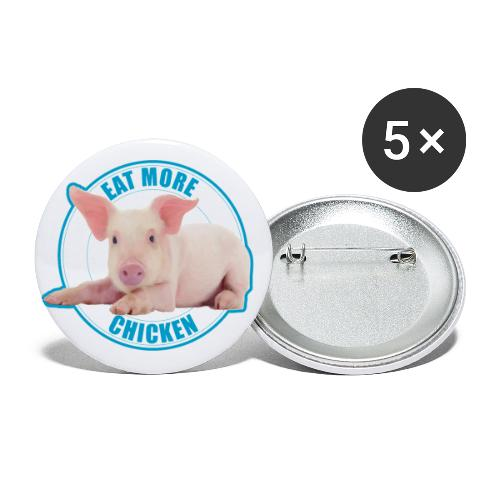 Eat more chicken - Sweet piglet print - Buttons large 2.2'' (5-pack)