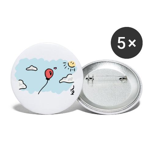 Balloon in Love - Buttons large 2.2'' (5-pack)
