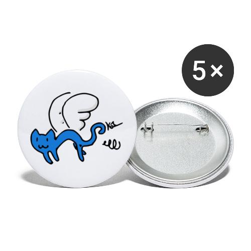 Flying Kitty - Buttons large 2.2'' (5-pack)