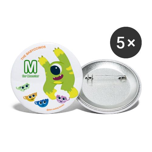 The Babyccinos M for Monster - Buttons large 2.2'' (5-pack)