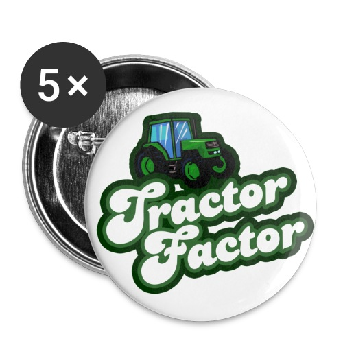 Tractor Factor - Buttons large 2.2'' (5-pack)