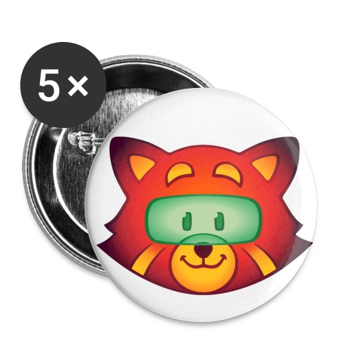 Foxr Head (no logo) - Buttons large 2.2'' (5-pack)