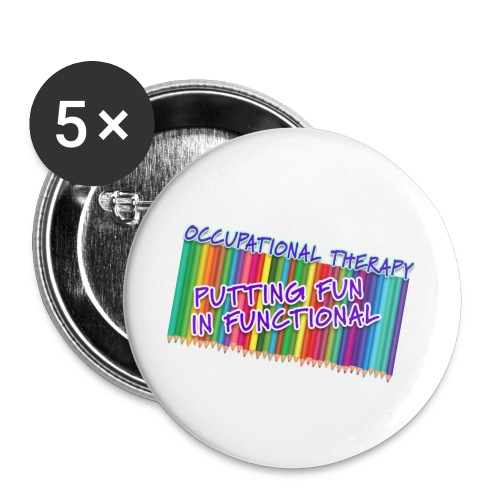Occupational Therapy Putting the fun in functional - Buttons large 2.2'' (5-pack)