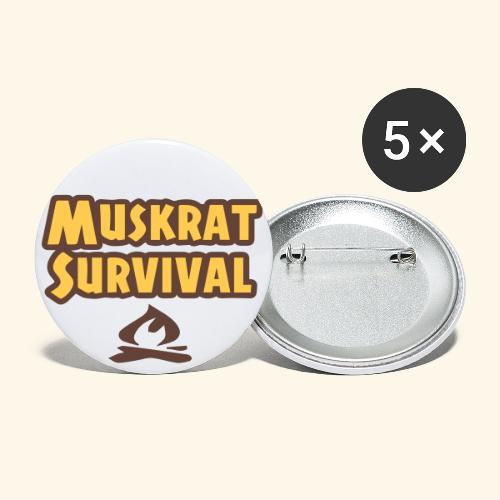 Muskrat Survival text - Buttons large 2.2'' (5-pack)
