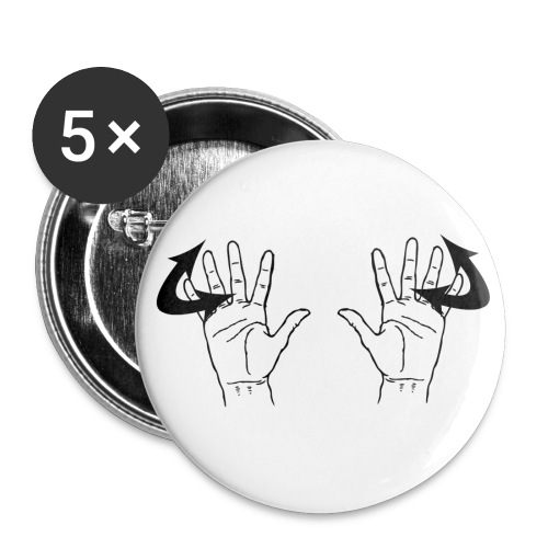 Hooray Hands no text - Buttons large 2.2'' (5-pack)
