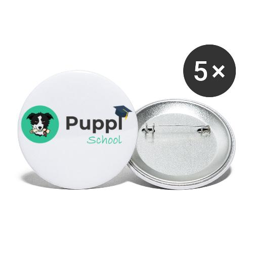 Puppl School - Full - Version 1 - Buttons large 2.2'' (5-pack)