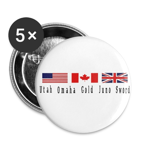 5 d day beaches - Buttons large 2.2'' (5-pack)