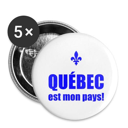 Québec mon pays! - Buttons large 2.2'' (5-pack)