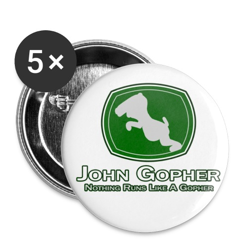 John Gopher - Buttons large 2.2'' (5-pack)