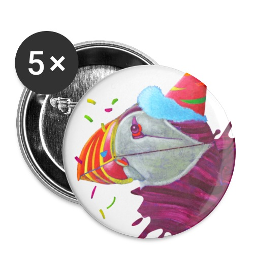 MR. PUFFIN - Buttons large 2.2'' (5-pack)
