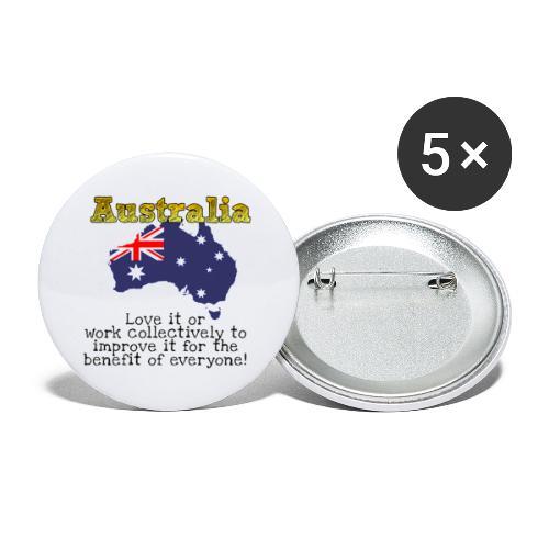 Australian Patriot - Buttons large 2.2'' (5-pack)