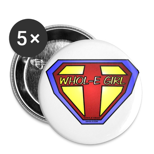 wholegirl logo2 - Buttons large 2.2'' (5-pack)