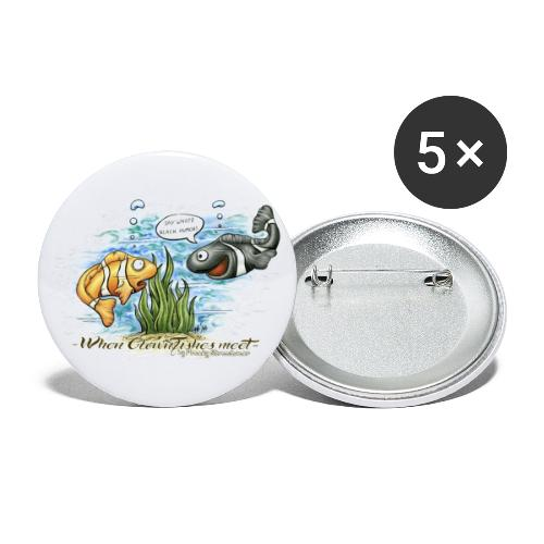 when clownfishes meet - Buttons large 2.2'' (5-pack)