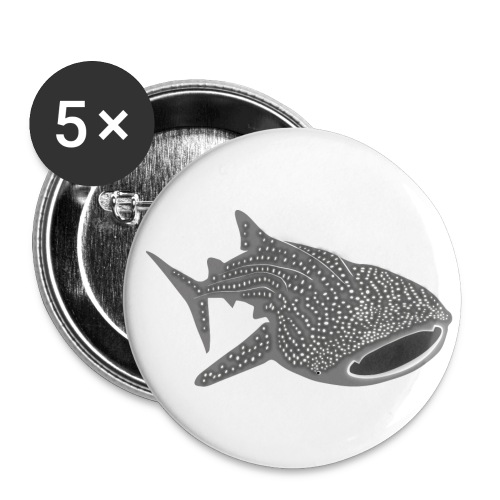 save the whale shark sharks fish dive diver diving - Buttons large 2.2'' (5-pack)