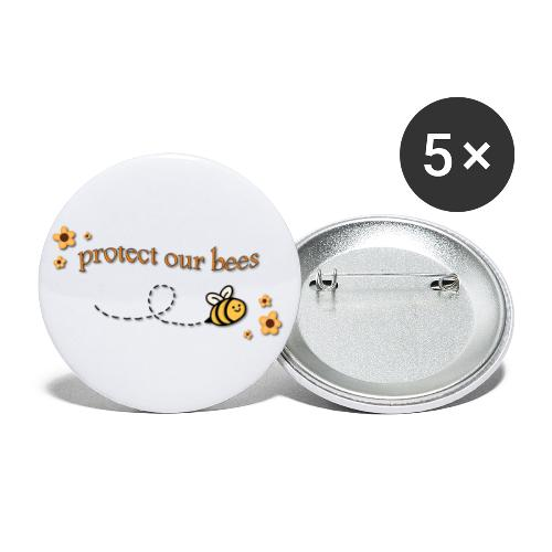 save the bees - Buttons large 2.2'' (5-pack)