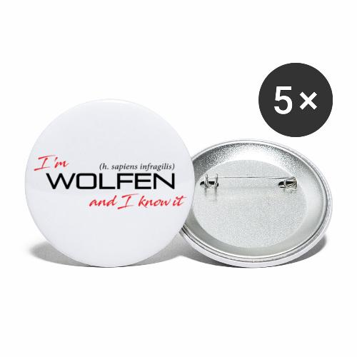 Wolfen Attitude on Light - Buttons large 2.2'' (5-pack)
