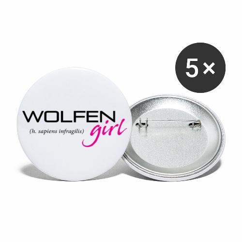 Wolfen Girl on Light - Buttons large 2.2'' (5-pack)