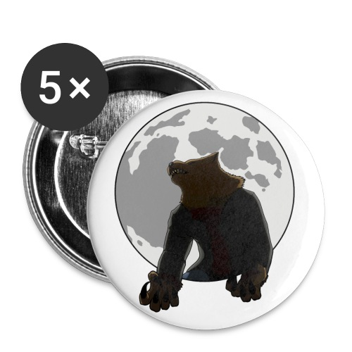 Howling Lupus - Buttons large 2.2'' (5-pack)