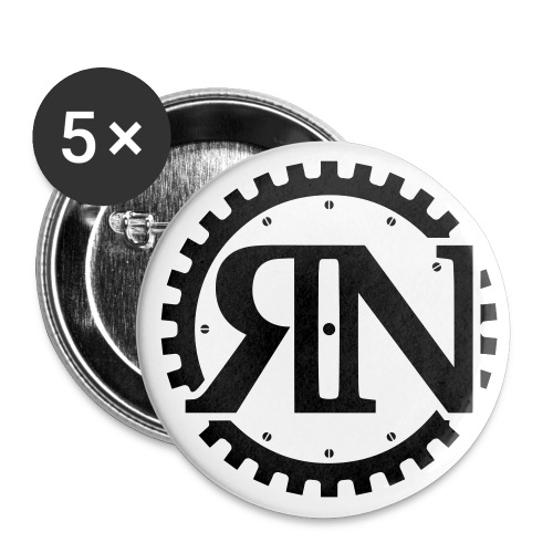 Riveting News - Buttons large 2.2'' (5-pack)