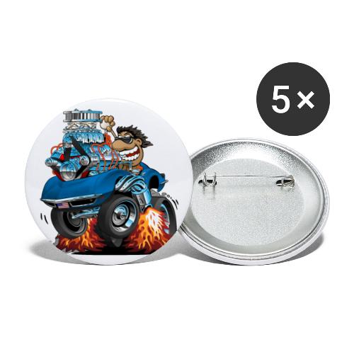 Classic '69 American Sports Car Cartoon - Buttons large 2.2'' (5-pack)