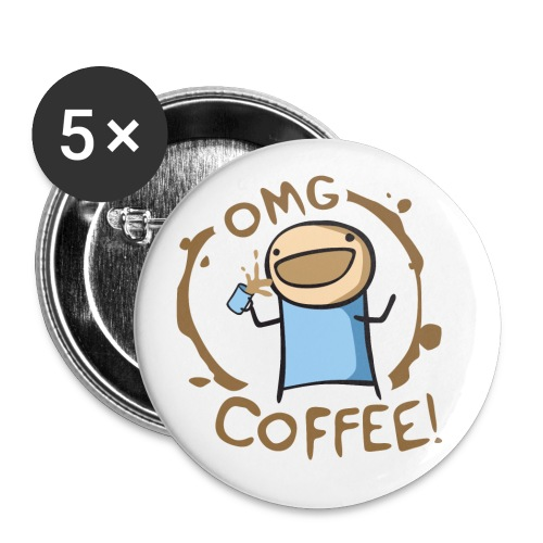 OMG COFFEE - Buttons large 2.2'' (5-pack)