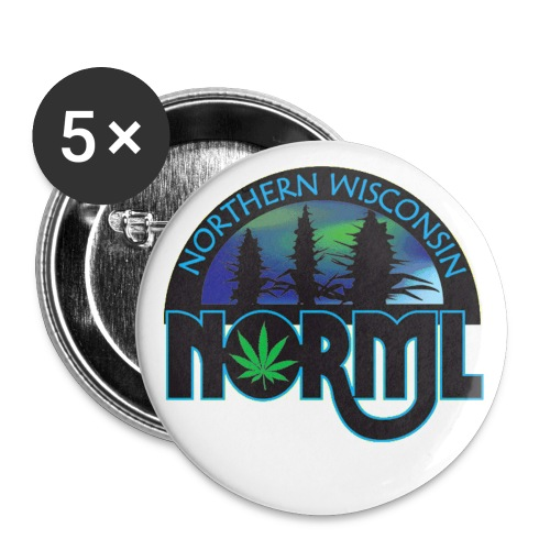 Northern Wisconsin NORML Official Logo - Buttons large 2.2'' (5-pack)