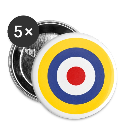 UK Symbol - Axis & Allies - Buttons large 2.2'' (5-pack)