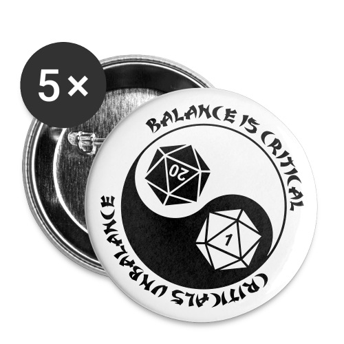 Balance is Critical - Buttons large 2.2'' (5-pack)