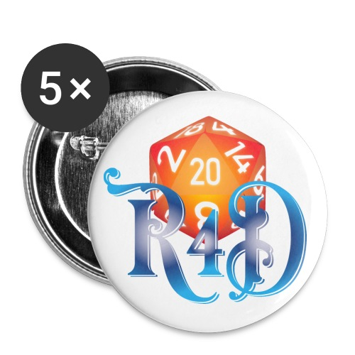 R4D Logo - Buttons large 2.2'' (5-pack)