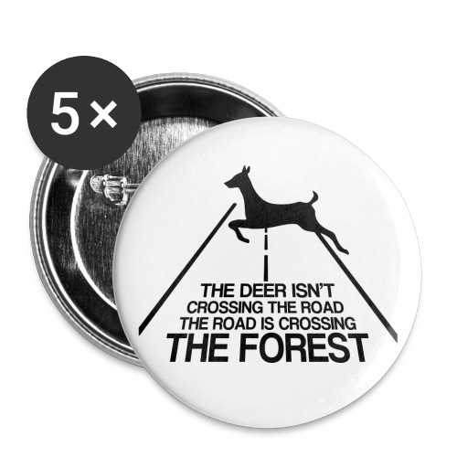 Deer's forest - Buttons large 2.2'' (5-pack)