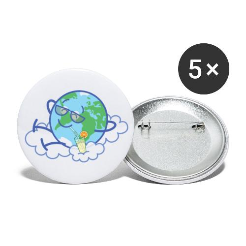 Mischievous Earth taking a well deserved break - Buttons large 2.2'' (5-pack)