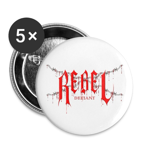 rebel logo gif - Buttons large 2.2'' (5-pack)