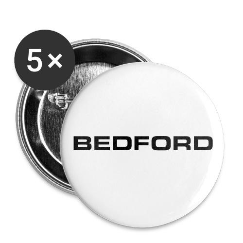 Bedford script emblem - AUTONAUT.com - Buttons large 2.2'' (5-pack)