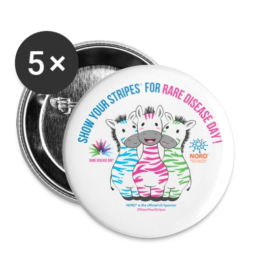 Show Your Stripes for Rare Disease Day! - Buttons large 2.2'' (5-pack)