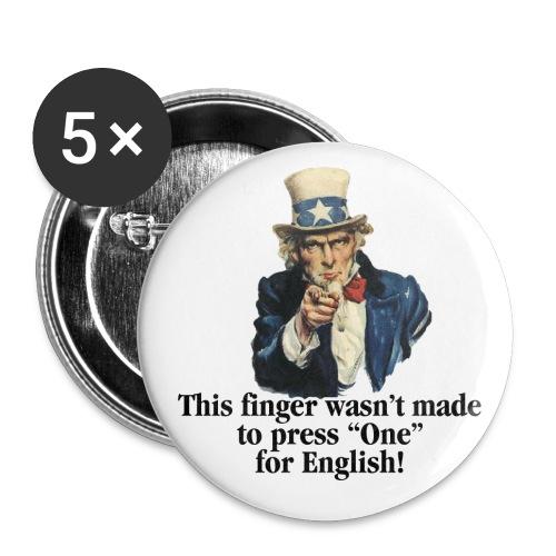 Uncle Sam - Finger - Buttons large 2.2'' (5-pack)