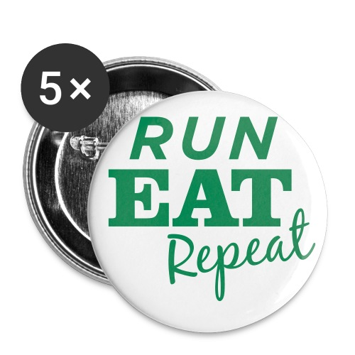 Run Eat Repeat buttons medium - Buttons large 2.2'' (5-pack)