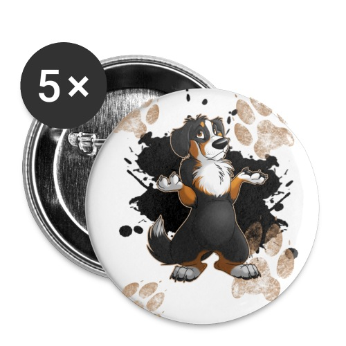 Muddy Paws - Buttons large 2.2'' (5-pack)