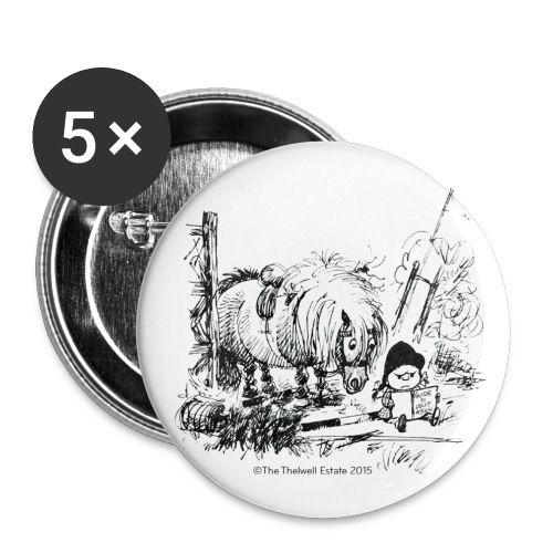 PonyFail Thelwell Cartoon - Buttons large 2.2'' (5-pack)