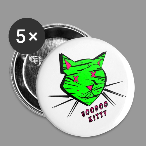 Voodoo Kitty - Buttons large 2.2'' (5-pack)