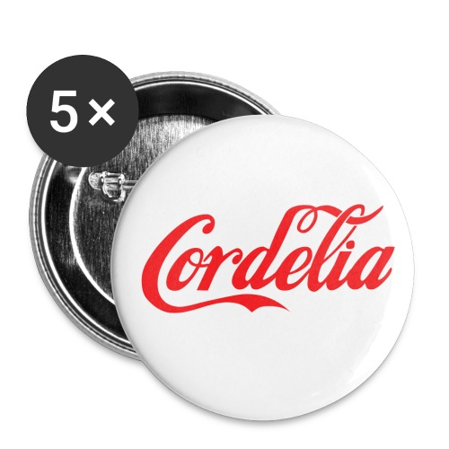 Cordelia Red - Buttons large 2.2'' (5-pack)