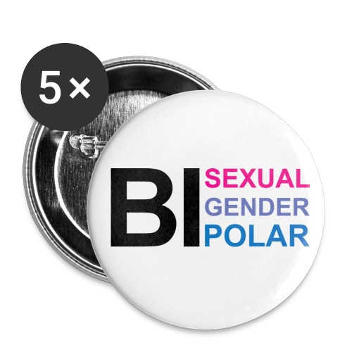 Bi Everything - Buttons large 2.2'' (5-pack)