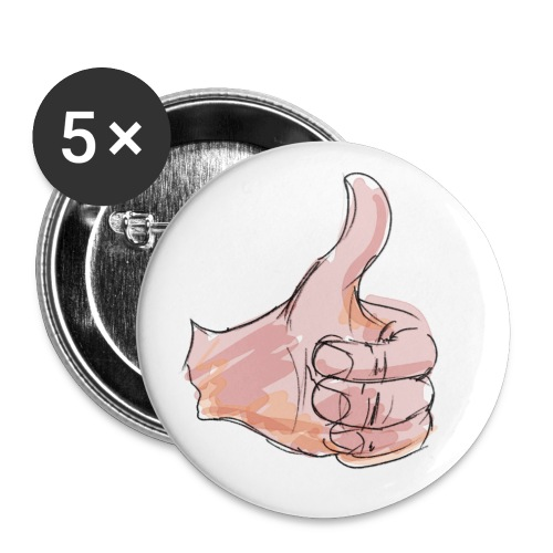 Thumbs-up to life! - Buttons large 2.2'' (5-pack)
