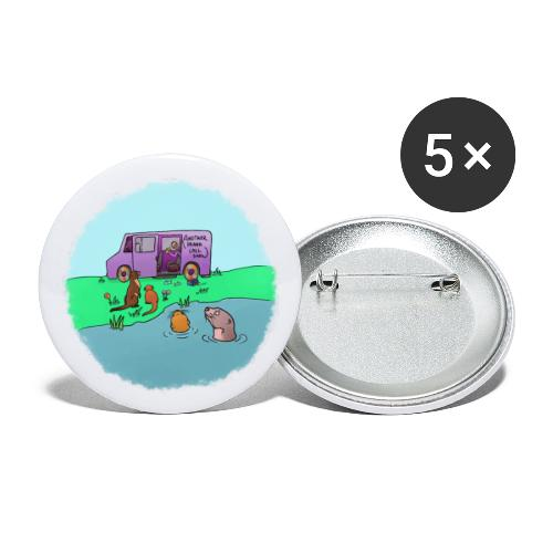 Sleve and the River Otters - Buttons large 2.2'' (5-pack)