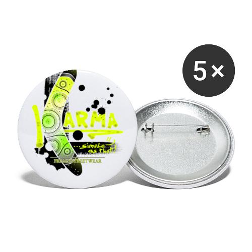 KARMA - Buttons large 2.2'' (5-pack)