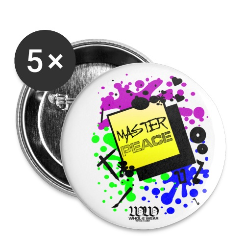 ***12% Rebate - See details!*** MASTERPEACE - WW - Buttons large 2.2'' (5-pack)