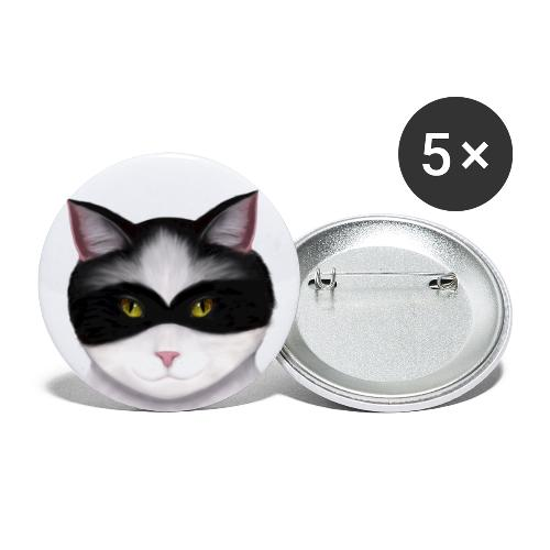 I am called the Masked Cat - Buttons large 2.2'' (5-pack)