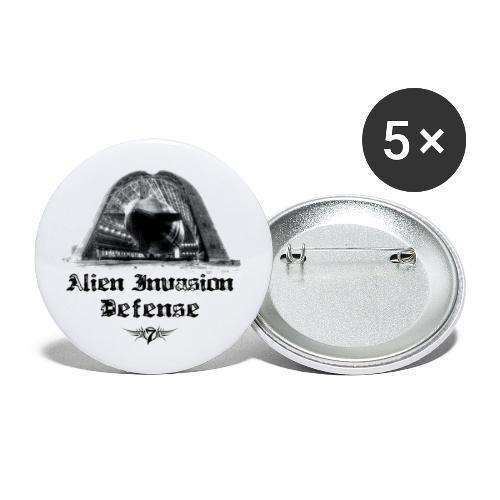 Alien Invasion Defender 5 - Buttons large 2.2'' (5-pack)