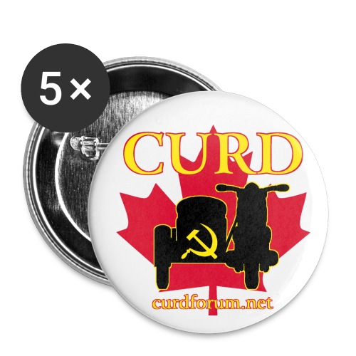 CURD curdforum - Buttons large 2.2'' (5-pack)