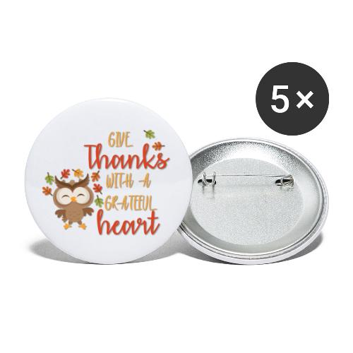 Give Thanks - Buttons large 2.2'' (5-pack)