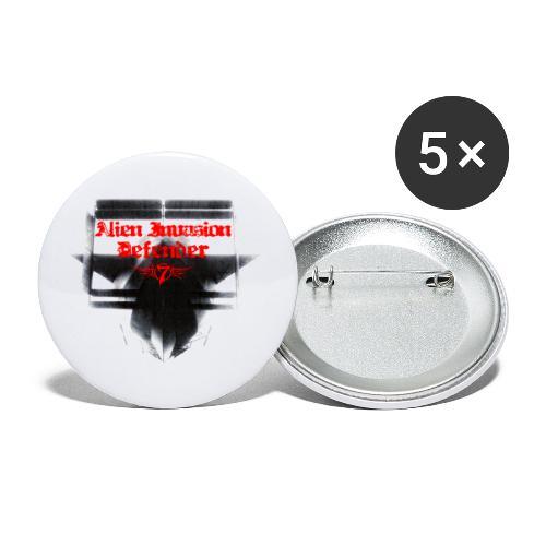 Alien Invasion Defender 3 - Buttons large 2.2'' (5-pack)